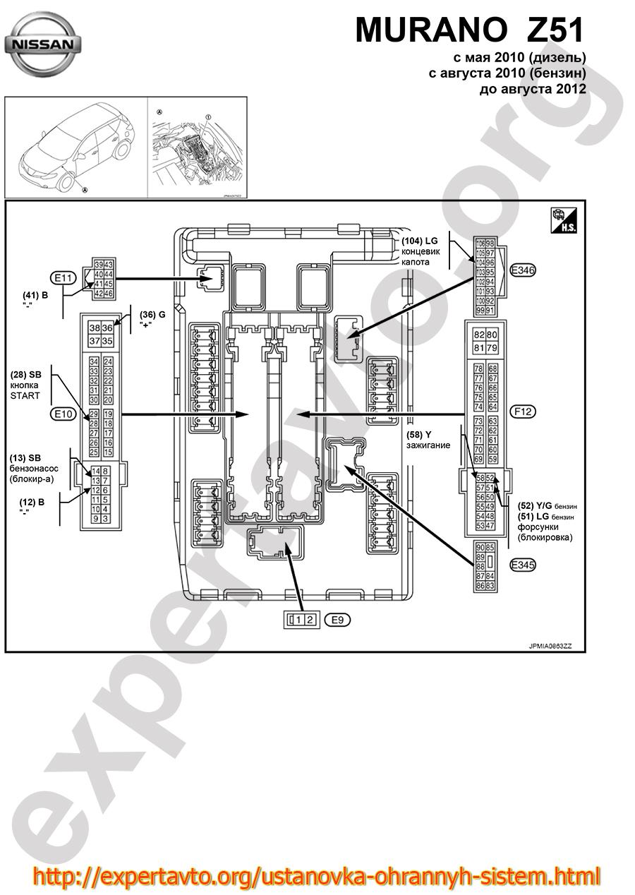 Teana j32 схема блока предохранителей